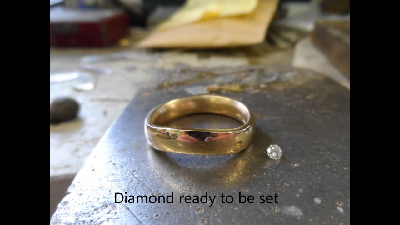 melting gold to make a gold ring
