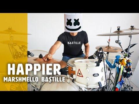 HAPPIER - Marshmello x Bastille | Drum Remix *Batería*
