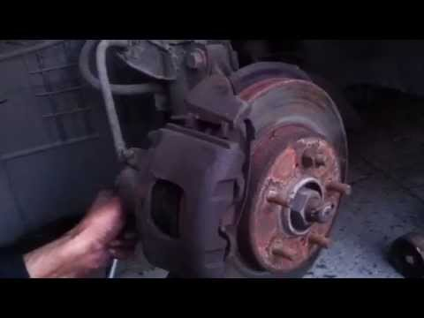 Mercury Villager 1998 front brake pads how to DIY pt 2