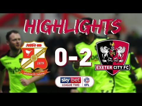 HIGHLIGHTS: Swindon Town 0 Exeter City 2 (1/1/19) EFL Sky Bet League 2