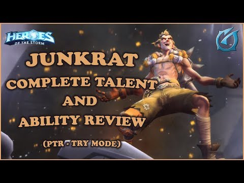 Grubby | Heroes of the Storm - Junkrat - Complete Talent and Ability Review - PTR Try Mode