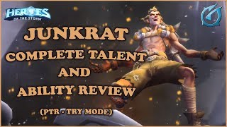 Grubby   Heroes of the Storm - Junkrat - Complete Talent and Ability Review - PTR Try Mode