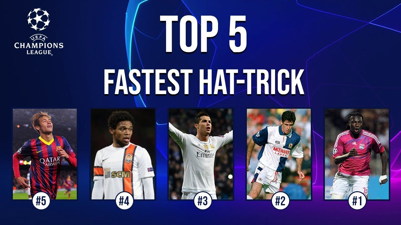 Top 5 Fastest Hat Trick In Champion League History Youtube