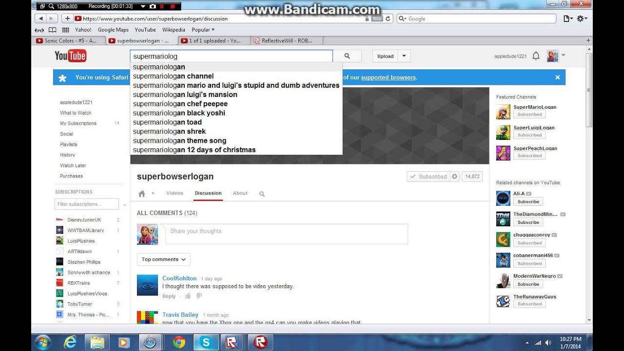 someone impersenating supermariologan youtube