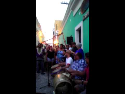 Bomba in the streets of San Juan, Puerto Rico