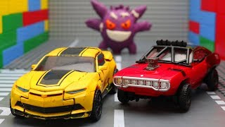 Transformers Bumblebee Movie Shatter, Optimus Prime Truck Superhero toys! LEGO car experimental