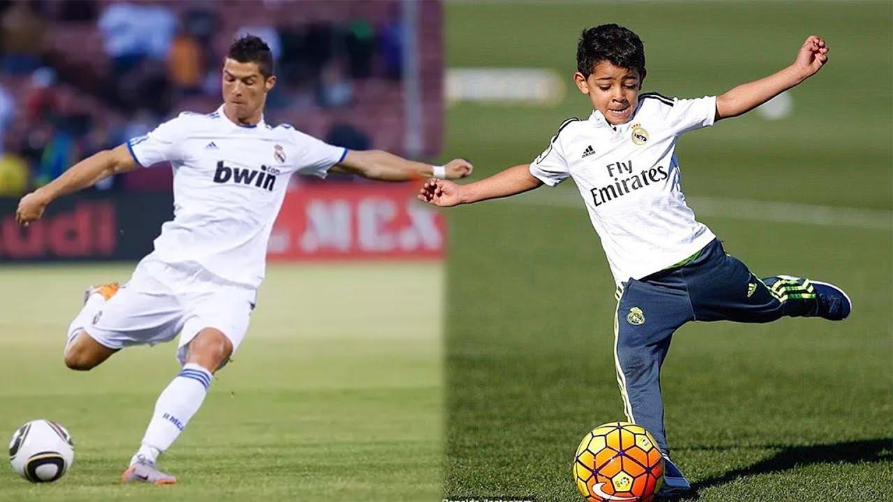 Cristiano Ronaldos Sohn Schiesst Genauso Gute Freistosse Wie Sein Vater