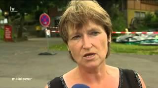 7591 Krieg HR Schwerer Unfall an Sprungturm   Free Fall Tower Hoherodskopf