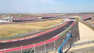 2012 Formula 1 United States Grand Prix Austin - Last Lap - Grandstand Turn 9
