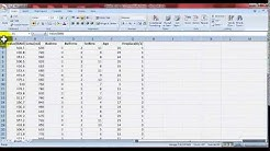 Microsoft Excel data analysis tool for statistics mean, median, hypothesis, regression