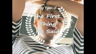 BTS (FF Video) (One Shot) Suga - The First Thing He Said