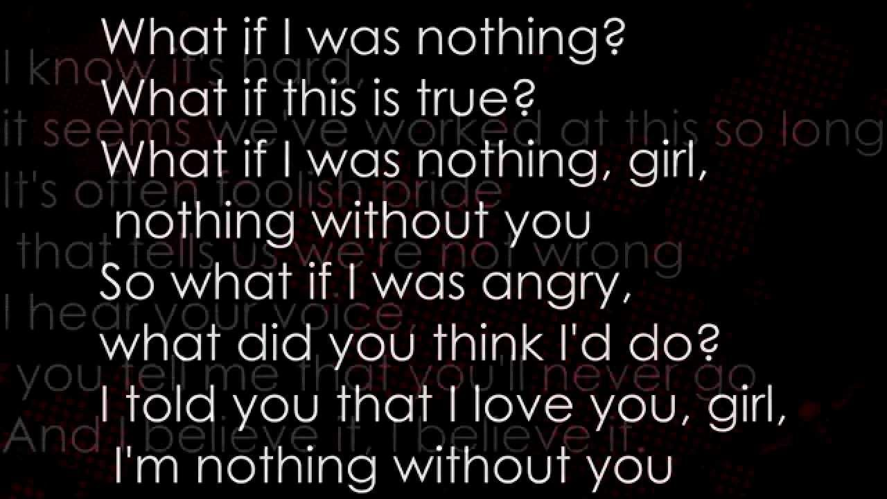 All That Remains What If I Was Nothing Lyrics