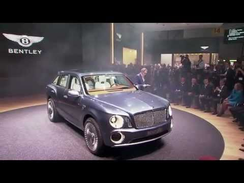 Bentley EXP 9 F SUV - Geneva Press Conference