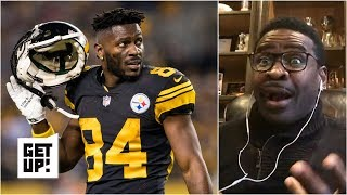 Michael irvin joins bart scott and mike greenberg on get up! to share his take the pittsburgh steelers trading antonio brown, saying that ab got exactly w...
