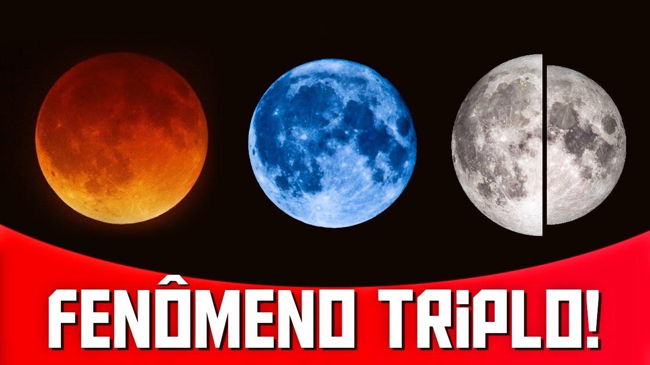 Resultado de imagem para super lua de sangue lua azul