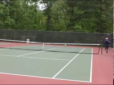 Serves practice at UGA tennis courts