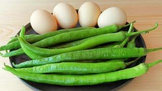 【小穎美食】青椒炒雞蛋好多人都做錯了,教你正確做法,鮮香嫩滑超下飯,真香