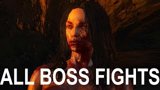 The Witcher 3 Blood and Wine: All Boss Fights (4K 60fps)
