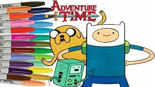 Adventure Time Coloring Book Finn The Human Jake The Dog  Beemo Cartoon Network Colouring