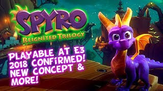 Spyro Reignited Trilogy - Tree Tops & Toasty Confirmed Playable At E3! Crash Bandicoot News Coming