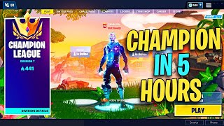 I Reached Champion Division in 5 Hours of Fortnite