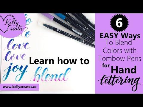 6 Blending Techniques for Hand Lettering