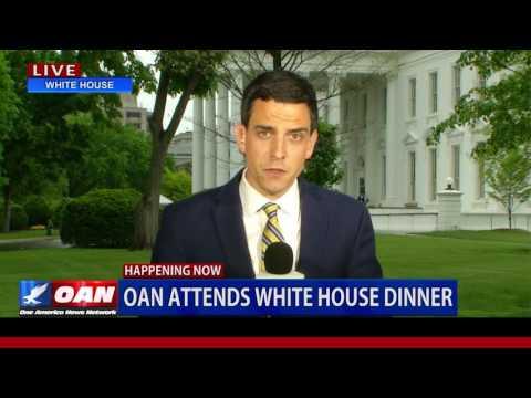 Exclusive: President Trump Briefs Media in Private Reception