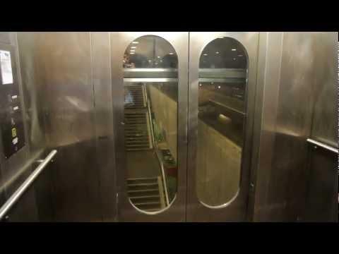 AMAZING 1979 Lifton glass elevator with epic motor @ Solrød Strand s-train station