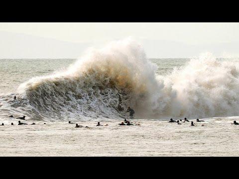 Surfing Mutant Waves at California's Beast of Backwash: Sandspit