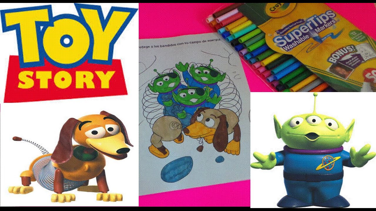Colouring Slinky and the Aliens from Toy Story 3 Libro gigante para ...