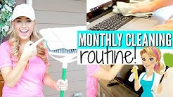 MY MONTHLY CLEANING ROUTINE | SPEED CLEAN WITH ME 2018 | Love Meg
