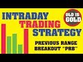 INTRADAY TRADING STRATEGY PRB