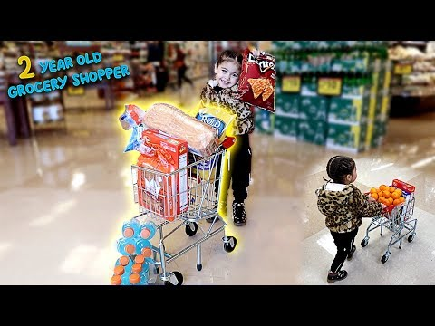 ELLE GOES GROCERY SHOPPING ALL BY HERSELF!!! **THE CUTEST THING EVER**