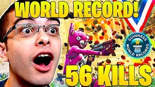 *NEW* WORLD RECORD! 56 KILLS by Nick Eh 30 and Squad! (Fortnite Battle Royale PC Record!)
