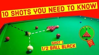 Snooker Shots Snooker Players Must Know