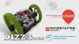 DIZZ3, the whirling and thumbling hi-speed remote controlled LEGO EV3 robot