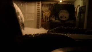 Subaru Outback blasting through deep snow
