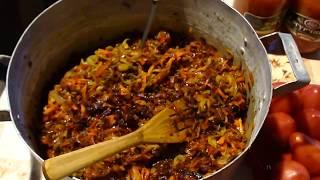 Заправка для БОРЩА на зиму.Заготовка! Stock for the Russian soup borscht for the winter!