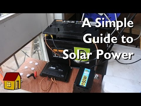 A simple solar power setup for my shed.