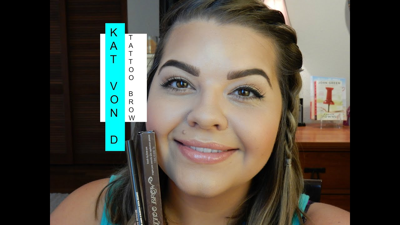 First impression kat von d tattoo brow youtube for How to get tattooed by kat von d