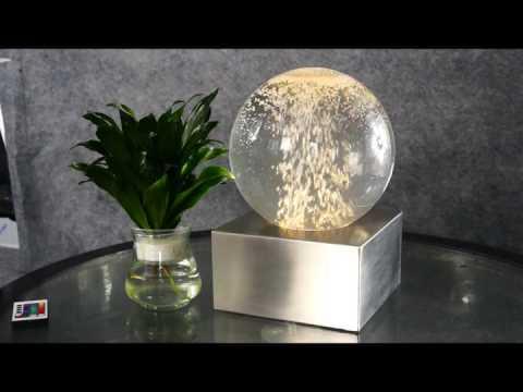 Fancy LED Bubble Globe Tabletop Fountain Decoration
