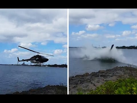 Helicopter crashes near Pearl Harbor memorial
