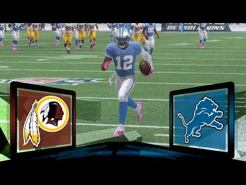 Madden NFL 17 Detroit Lions Franchise- Year 1 Game 7 vs Washington Redskins