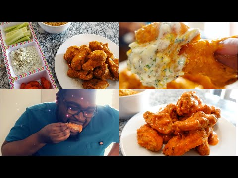 The Best Buffalo Chicken Wings With Blue Cheese Dip