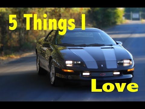 5 things I love about my fourth gen Camaro Z28 4th generation
