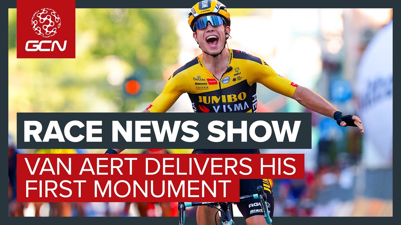 Wout Van Aert Takes His First Monument Victory At Milan-Sanremo | GCN's Racing News Show