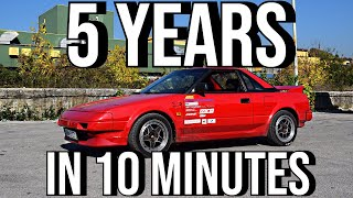 Toyota MR2 car BUILD in 10 MINUTES | 5 YEARS in 10 mins