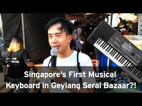 Singapore's First Musical Keyboard in Geylang Serai Bazaar?! l City Music Hari Raya 2018