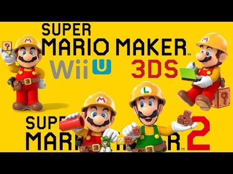 Super Mario Maker - All Trailers (2014-2019)