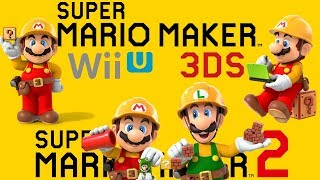 Super Mario Maker - All Trailers (2014-2019)